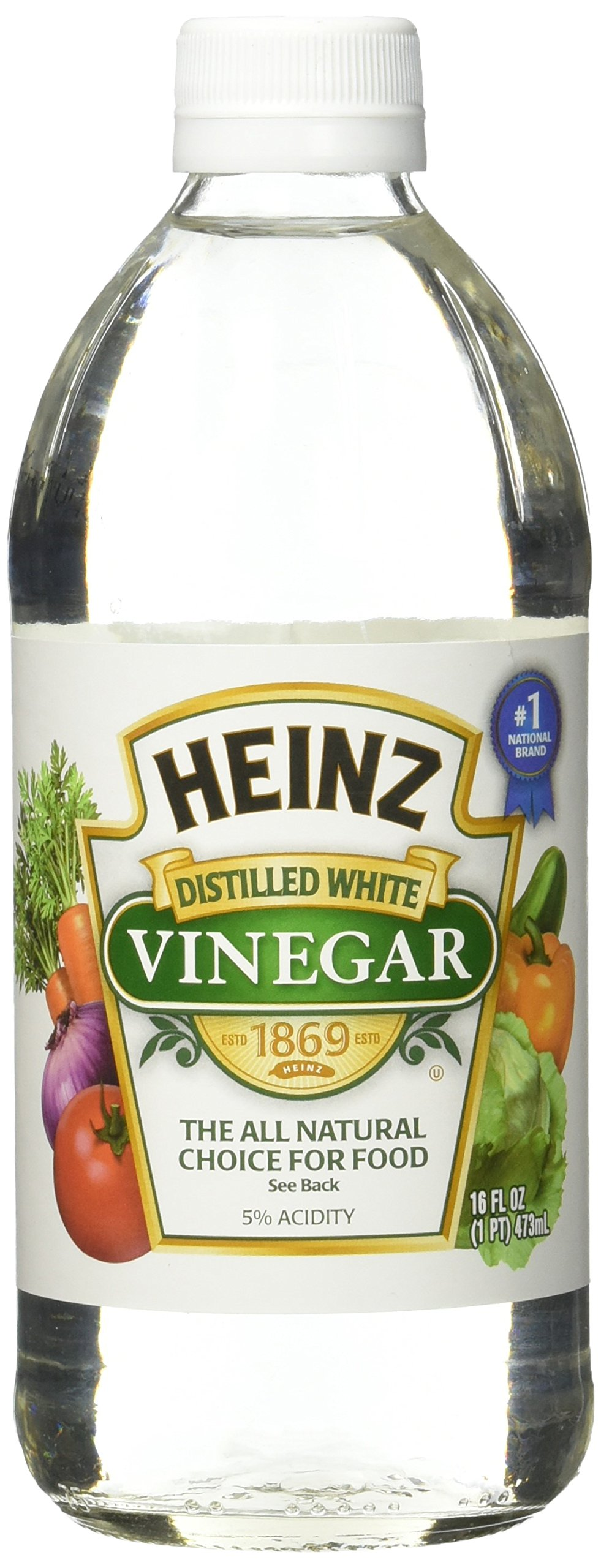 Heinz Distilled White Vinegar 16 oz (Pack of 12) by Heinz