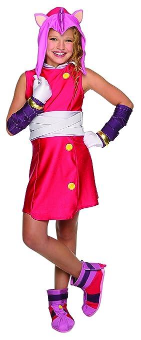 De NiñaAmazon Disfraz Para esJuguetes Sonic Amy Y Juegos 8n0PkOw