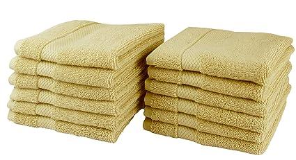 00aa5eca44fce Cotton Craft - 12 Pack Luxuriously Oversized Hotel Wash Cloth - Linen -  100% Ringspun