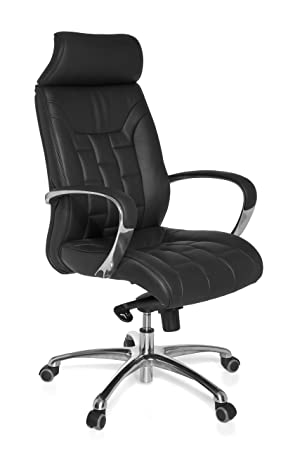 Amstyle Turin SPM1 XXL fice Chair Real Leather Can Hold up to kg