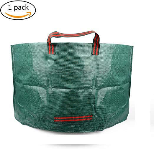 Bolsa de residuos de jardinería de jardín de 60 litros, bolsas de residuos de hojas de jardinería reutilizables: Amazon.es: Jardín