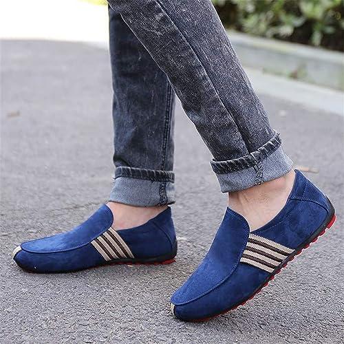 Zapatos Hombre Mocasines Hombre Zapatos Caminar Casual Hombres Hombre Rojo Bottom Canvas Slip Driving Mocasín Mocasines Zapatos Planos: Amazon.es: Zapatos y ...