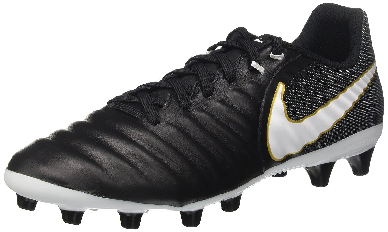 Nike Herren Tiempo Ligera Iv Ag-Pro Fußballschuhe, schwarz Weiß-Laser Orange Volt, Schwarz (schwarz Weiß-schwarz-metallic Vivid Gold), 42.5 EU