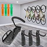 SMALLRT 4 Pack Garage Bike Rack Wall Mount Bike Hook Bicycle Hanger Storage System Vertical Hanging for Indoor Shed…