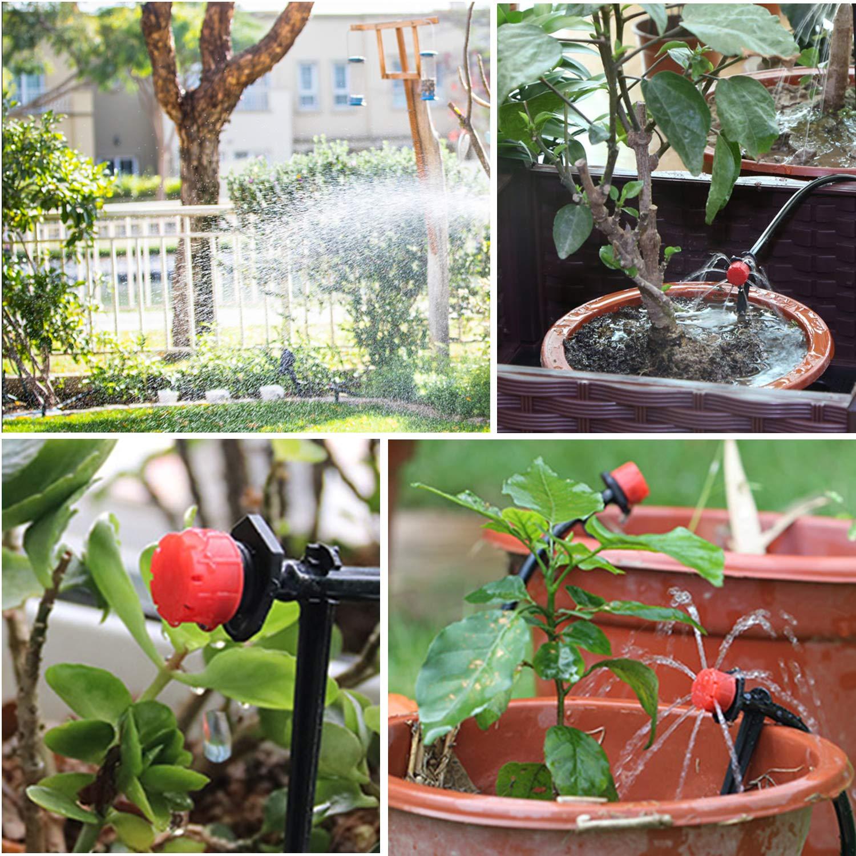 Aiglam Syst/ème dirrigation Jardin 40M Micro Irrigation Goutte /à Goutte Irrigation Automatique Kit Irrigation Goutte /à Goutte Automatique Irrigation de Jardin pour Paysage Plantes de Patio