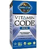 Garden of Life Multivitamin for Men - Vitamin Code Men's Raw Whole Food Vitamin Supplement with Probiotics, Vegetarian, 120 Capsules