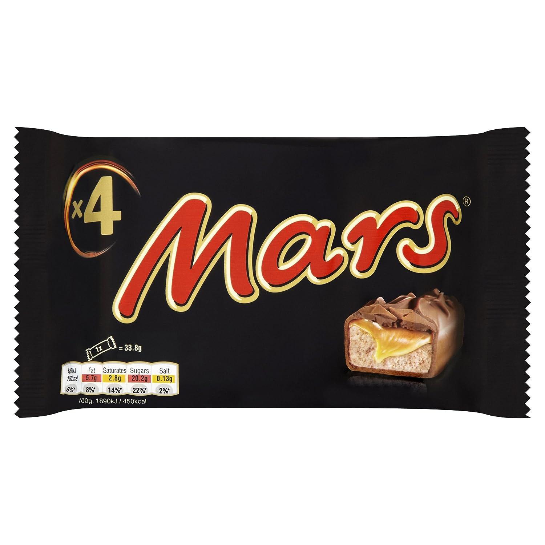 Mars Chocolate Bars Treat Size Small 4 Bars (33.8g bars)