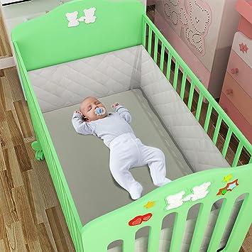 Swiftt Kinder Baby Bettumfang Waschbar Stoffumrandung Nestchen
