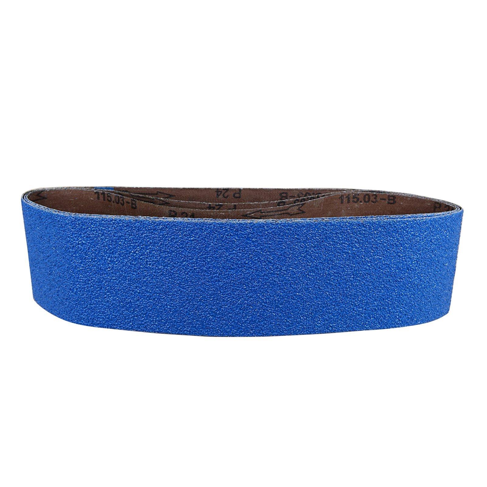 POWERTEC 443606Z-3 4-Inch x 36-Inch 60 Grit Metal Grinding Zirconia Sanding Belt, 3-Pack