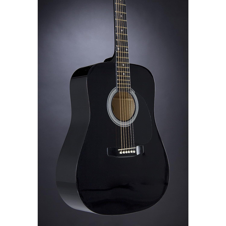 Fender 0930306006 Squier Dreadnought SA-105 - Guitarra eléctrica, color negro