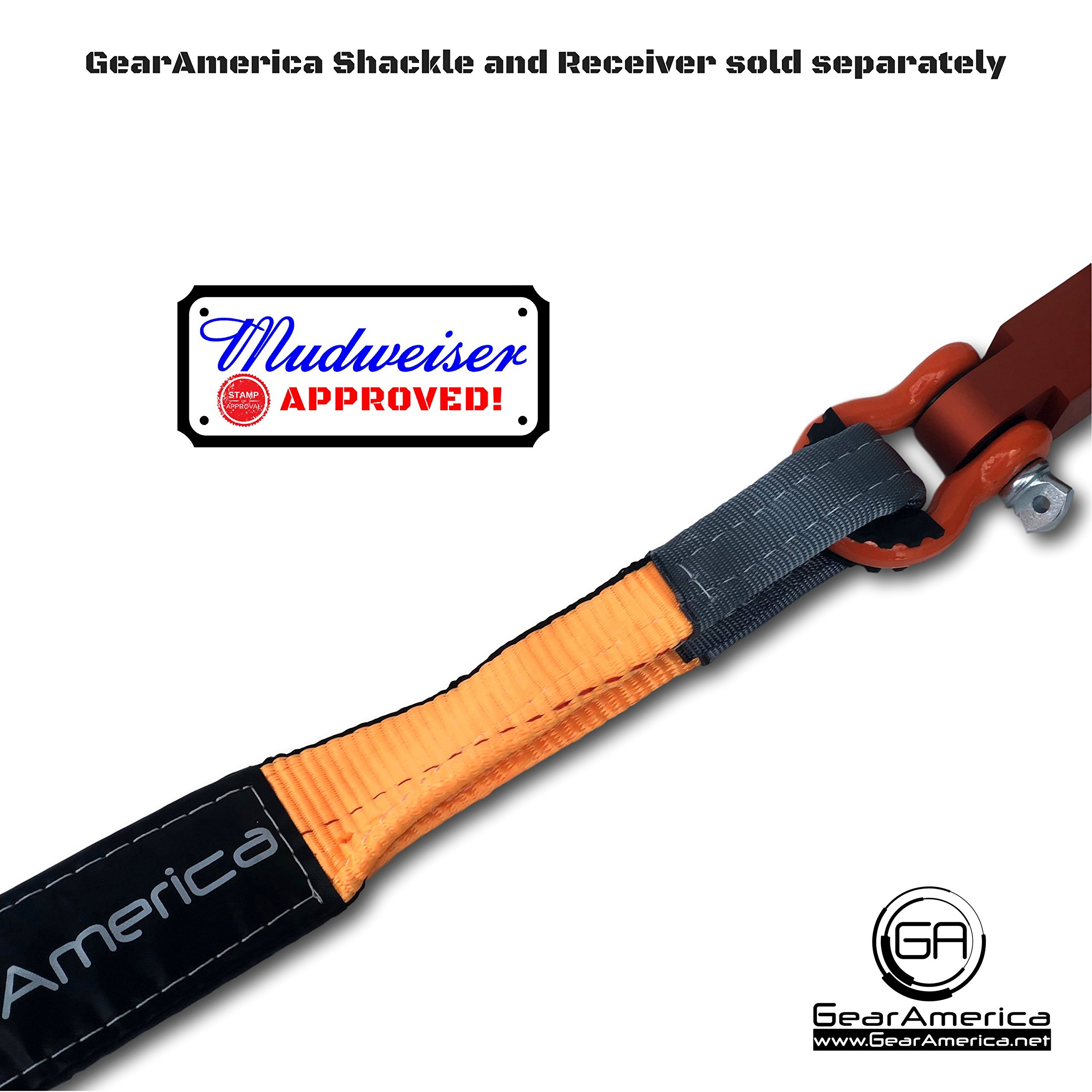 Heavy-Duty Tree Saver Winch Strap | Off-Road Towing and Recovery Rope for Truck, Jeep and SUV | Attach Hook or D-Ring Shackle to Pull Stuck Vehicle | Lab-Tested 35,000 lbs | BONUS Storage Bag by GearAmerica (Image #9)