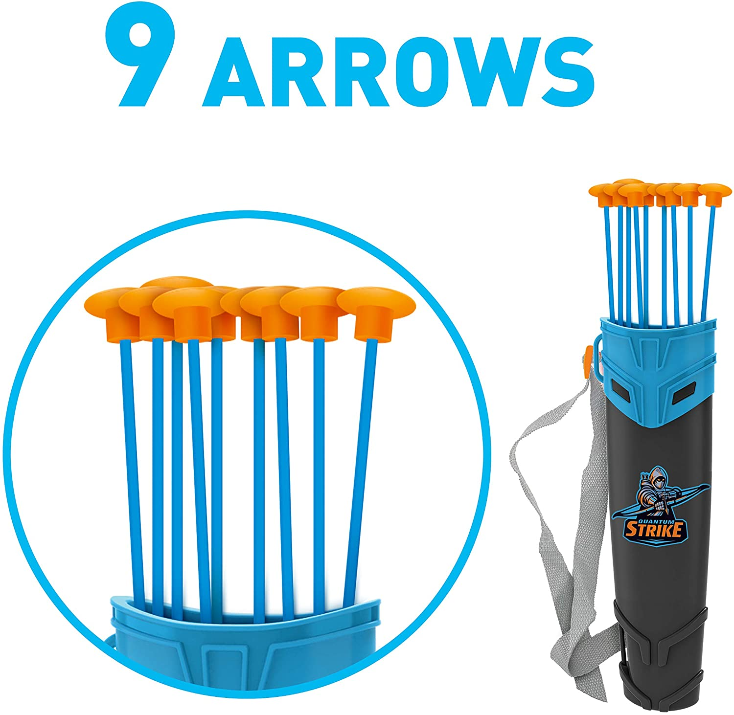 Target and Quiver JOYIN Green Bow and Arrow for Kids with LED Flash Lights Outdoor Toys for Kids Archery Bow with 9 Suction Cups Arrows