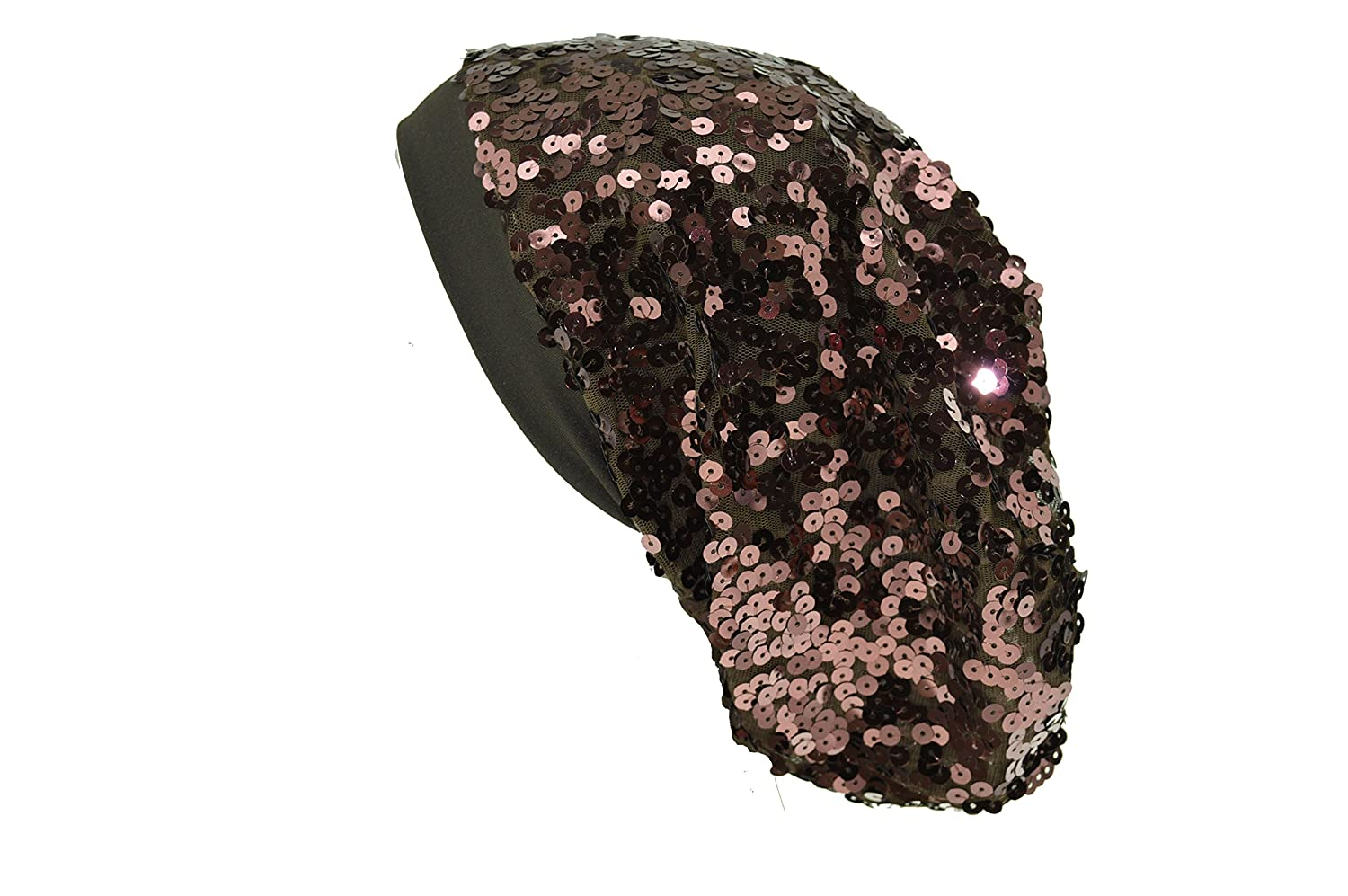 08f6b722645 Large Sequin Beanie Womens Sequins Hat Disco Girl Cap Dancer Club (Brown)  at Amazon Women s Clothing store