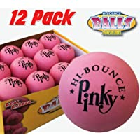 Premium Rubber Ball | 12 Balls PACK | Pinky Bouncy Ball | Colorful Gift Box and Balls Combo | Party Gift Supplies | 100% Solid Rubber High Bounce Pink Ball | Wall Ball For Kids | Bounciest Ball Games
