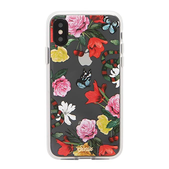 0c4e174c79f Sonix Eden (Snake Flowers) Cell Phone Case [Military Drop Test Certified]  Women's Protective Clear Case for Apple iPhone X, iPhone Xs
