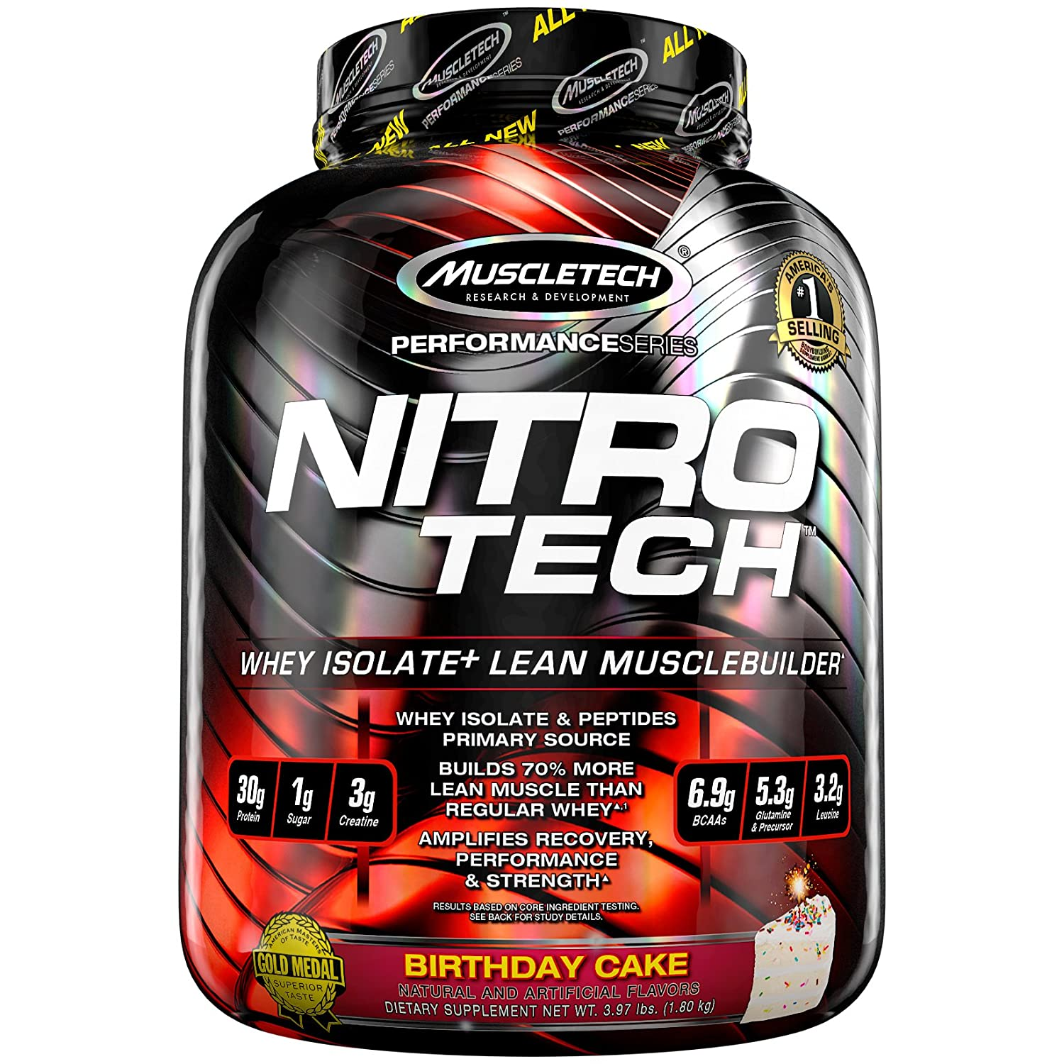 MuscleTech NitroTech Protein Powder 100 Whey With Isolate
