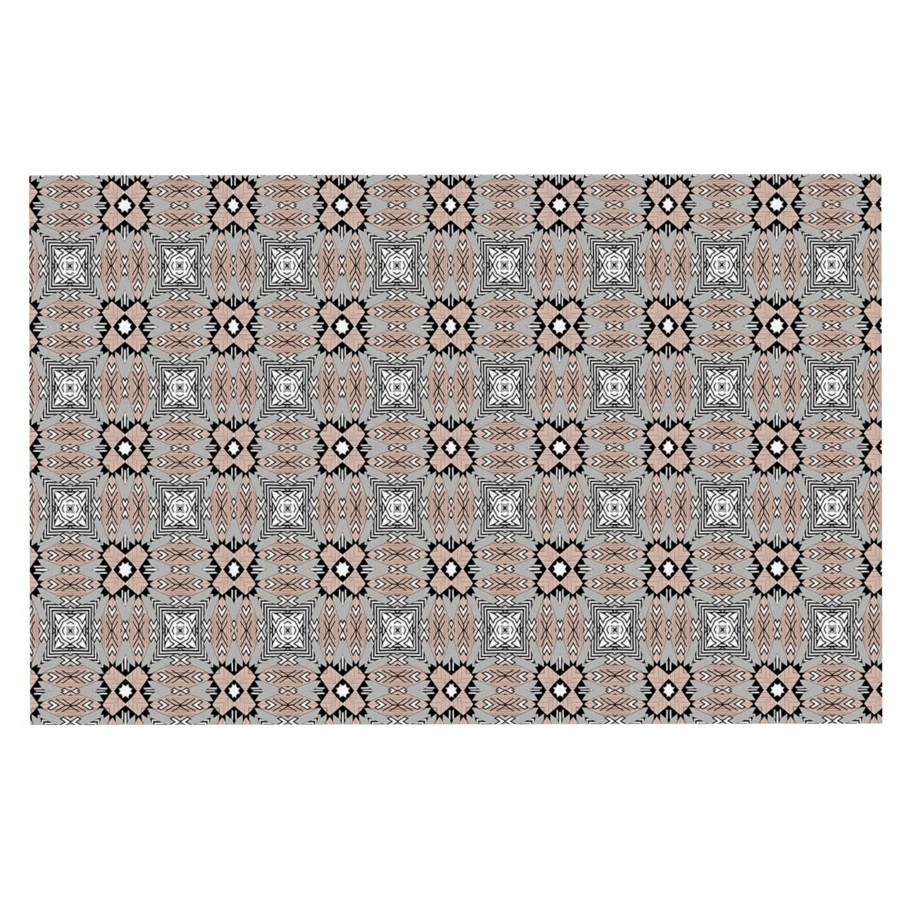 KESS InHouse Vasare Nar African Nomad  Brown Pattern Dog Place Mat, 13  x 18