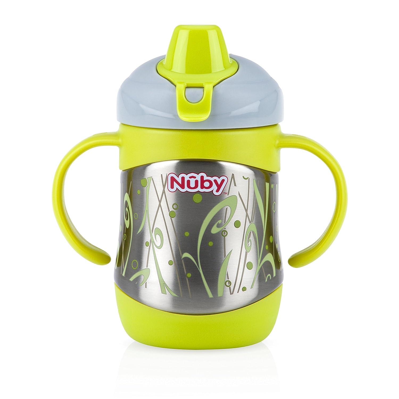 color verde Taza de acero inoxidable para cortar Nuby