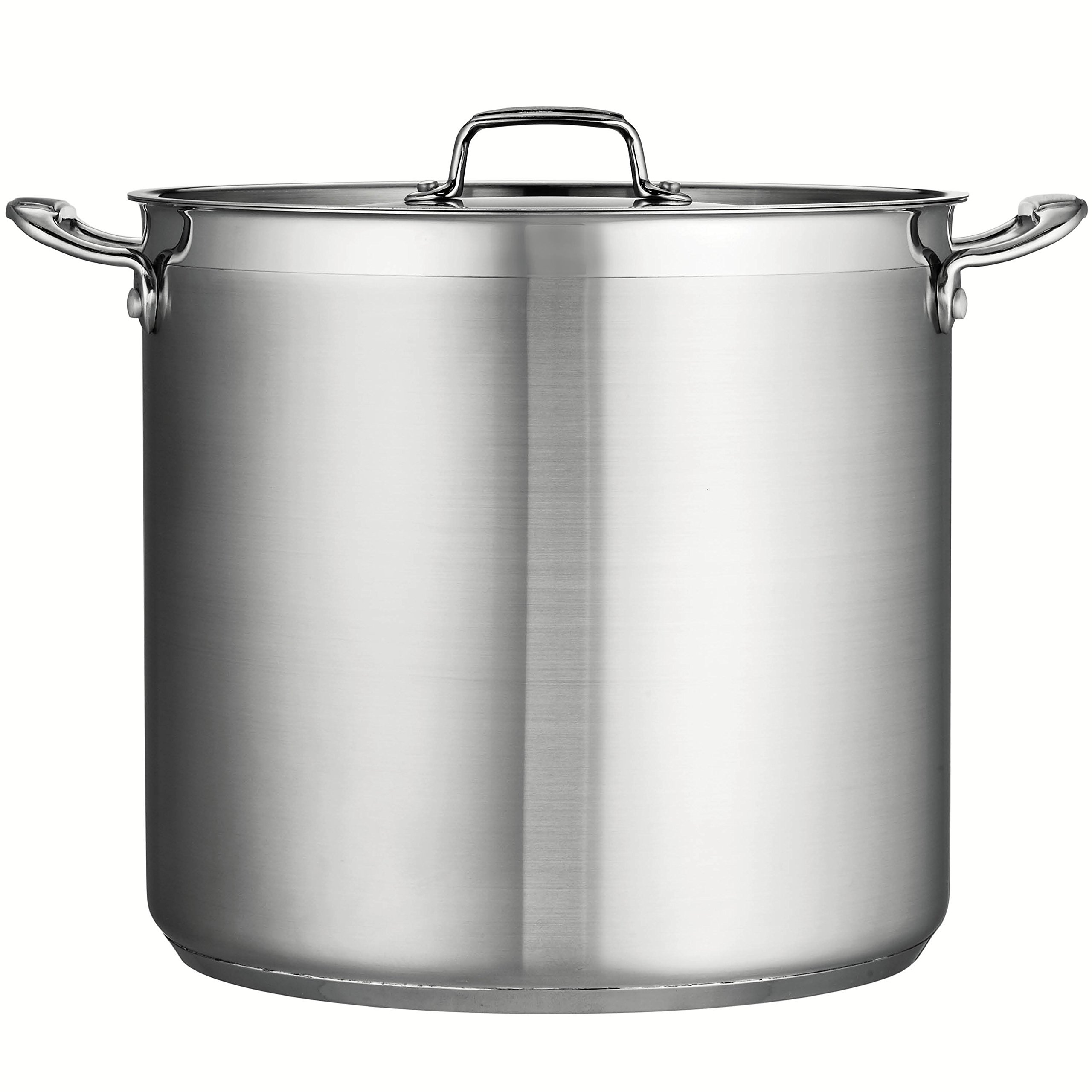 Tramontina 80120/003DS Tramontina Gourmet Stainless Steel Covered Stock Pot, 24-Quart by Tramontina (Image #2)