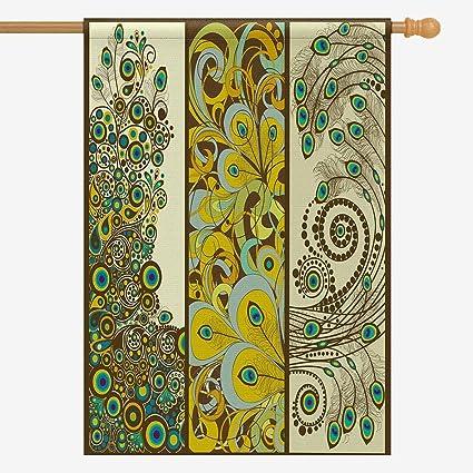 Amazon.com: InterestPrint Elegante hermoso arte de pavo real ...
