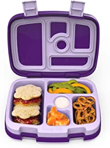 Eco Unicorn Nibbles Bamboo Bento Lunch Box With Silicone Band