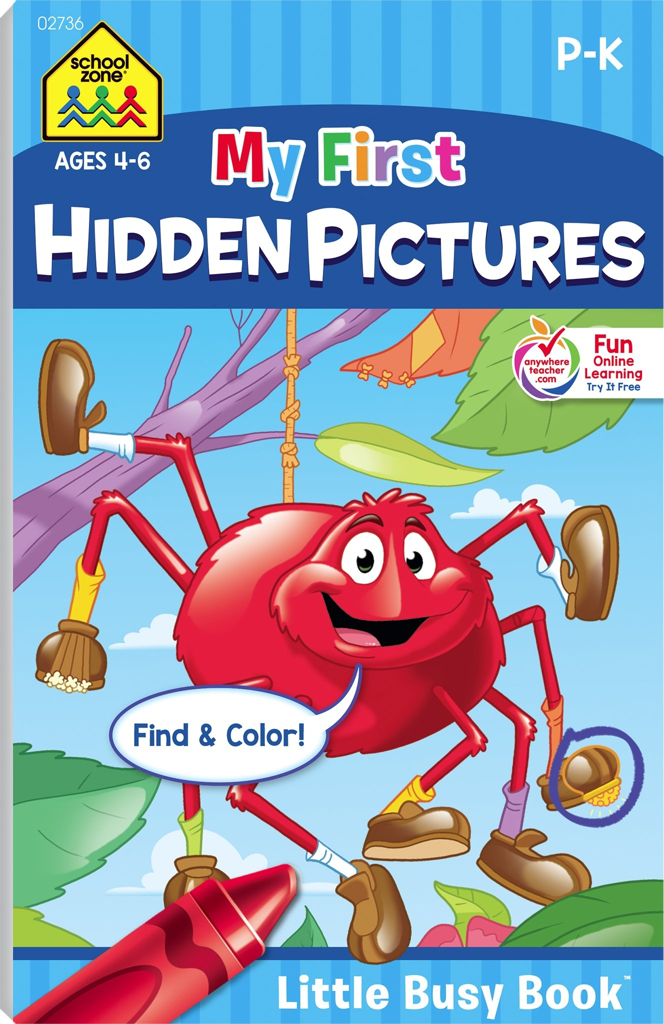 My First Hidden Pictures (Little Busy Book) Ages 4-6: Joan Hoffman ...