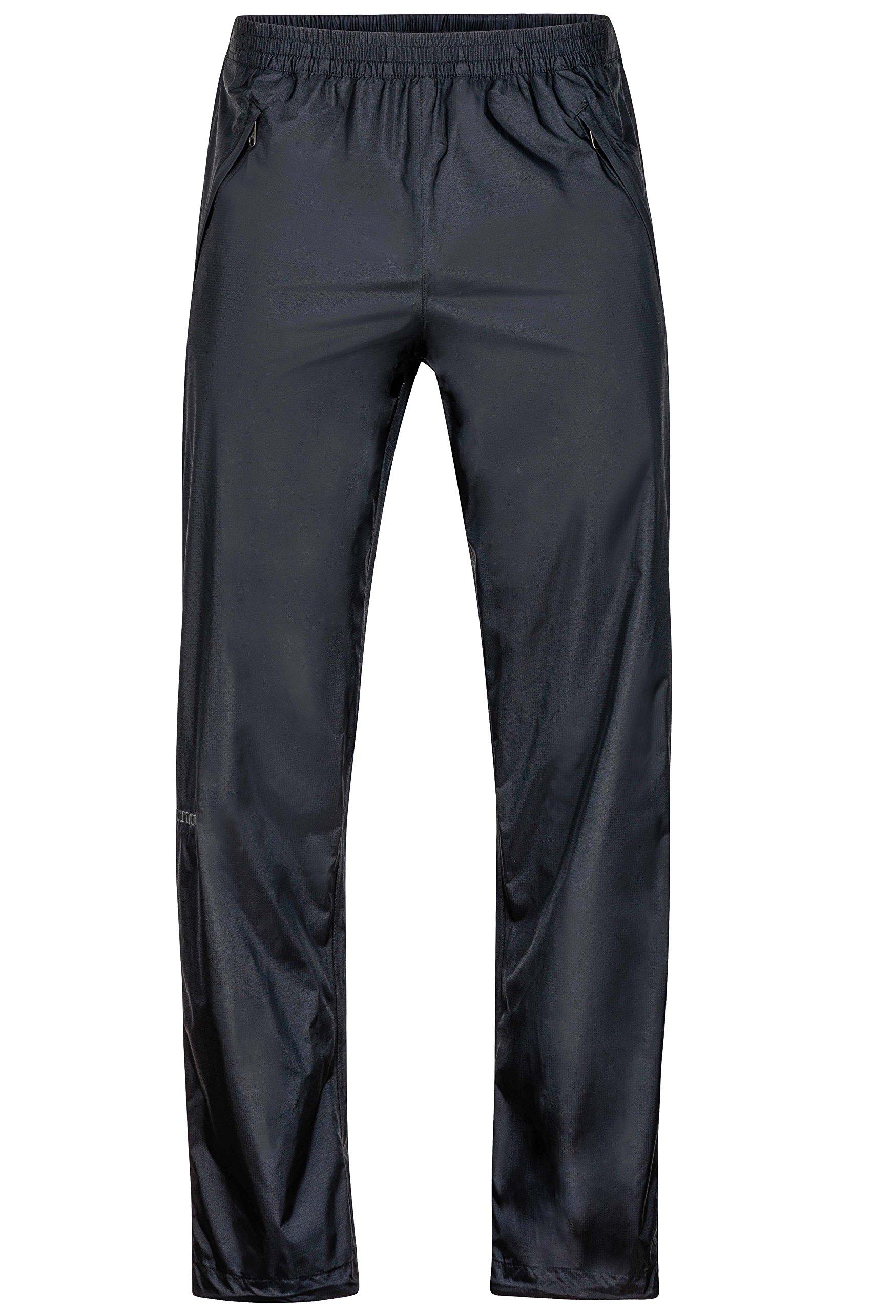 Marmot PreCip Men's Lightweight Waterproof Full-Zip Pant, Small, Jet Black by Marmot