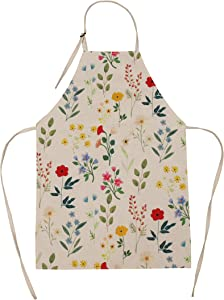 Flower Apron Pattern Kids Apron for Birthday Party's, Gardening, Kitchen, Cooking, Baking Chef Activity Size for Girl, Boy, Teen, Kids and Adults 8 Years Old and up to Medium Size Women