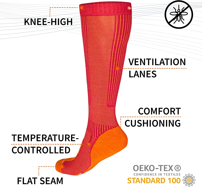 Warme und Bequeme Atmungsaktivit/ät f/ür Frauen Outdoor Wandersocken Dicke warme Socken Geeignet f/ür t/ägliche Reisen und Sport Color : Black