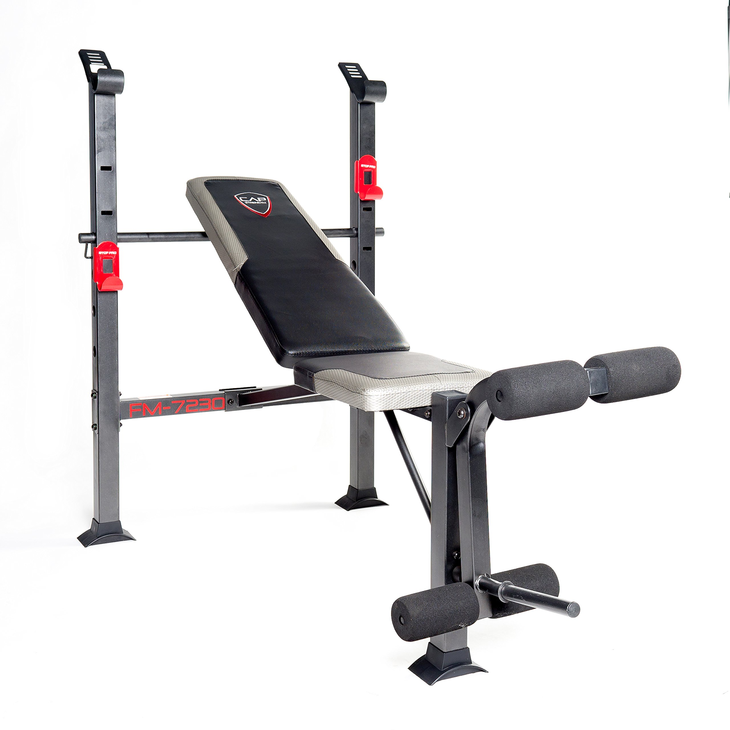CAP Strength Bench Standard Bench Black/red by CAP Barbell