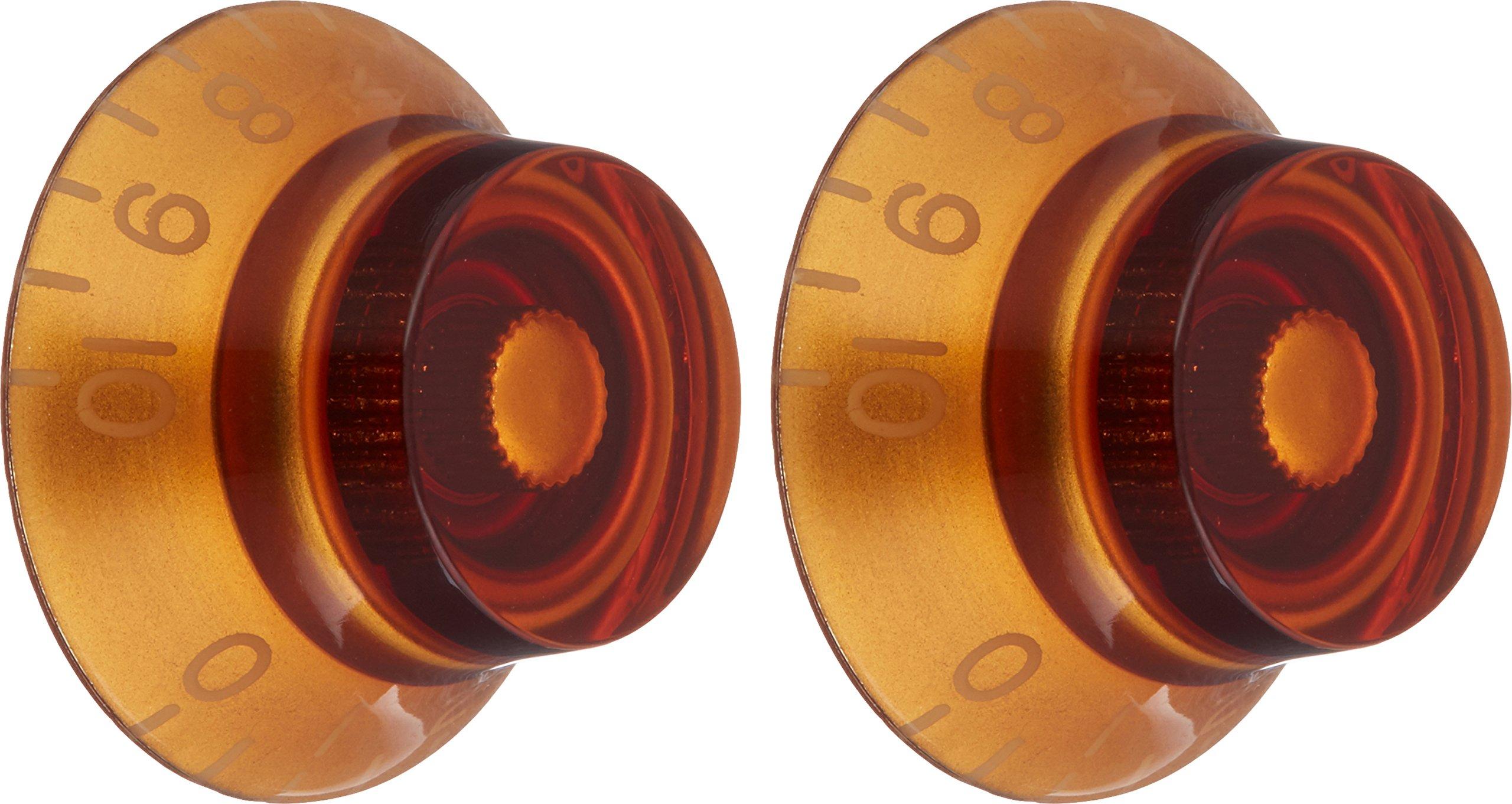 WD Music KA-160 Bell Knob, Gibson Set Of 2 Amber