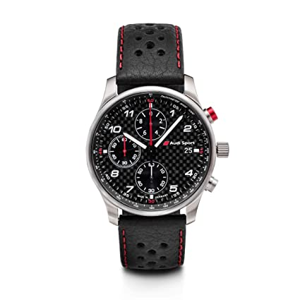 Audi 3101700200 - Reloj de Pulsera Deportivo con cronógrafo, Esfera de Carbono, Color Negro