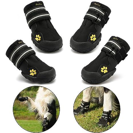 RoyalCare Zapatos para Perros, Botas De Nieve Resistentes Al Agua Y Calientes. Protector De Patas con Suelas Rugosas Antideslizantes Resistentes Al