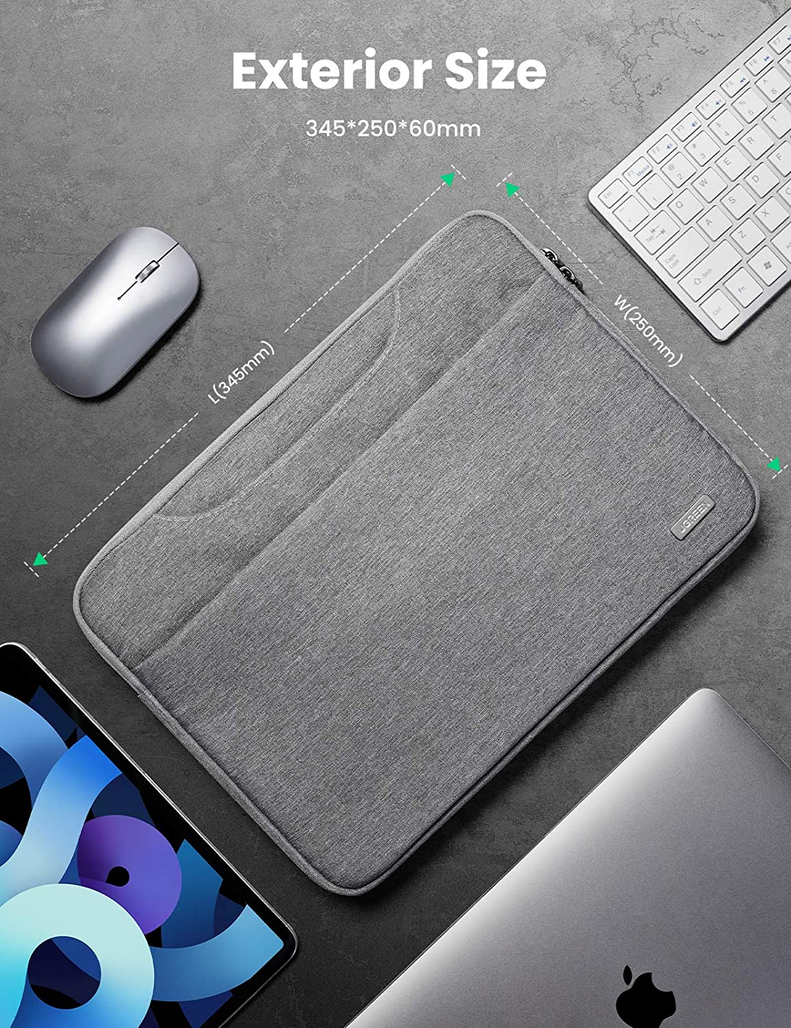 iPad Pro 2020 Dell XPS UGREEN Laptop Sleeve 13-13.9 Inch Protective Case with Portable Handle Laptop Waterproof Cover Compatible with MacBook Pro 2020 MacBook Air M1 Surface Pro 3 Envy 13