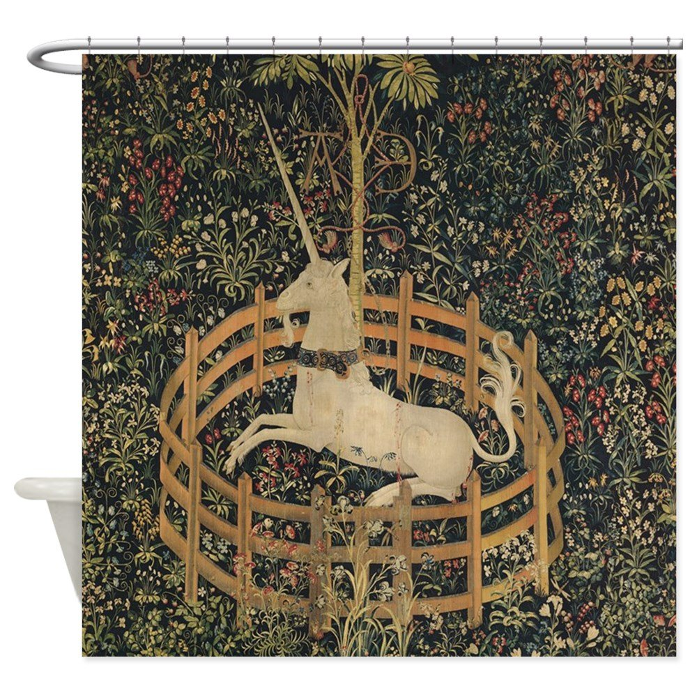 "CafePress - Unicorn Captured - Decorative Fabric Shower Curtain (69""x70"")"