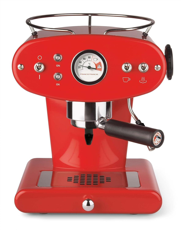 Amazon.de: Illy FrancisFrancis! X1 Ground Espressomaschine rot
