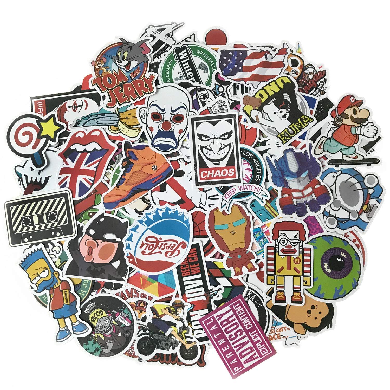 Paquete de adhesivos de vinilo tipo grafiti, para portátil, niños, coches, motos, bicicletas, patinetes, maletas, parachoques, resistentes al agua, ...