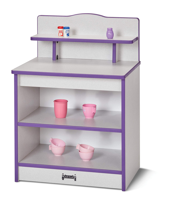 Rainbow Accents 2427JCWW007 Toddler Kitchen Cupboard - Yellow