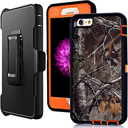 Iphone 6 Plus Holster Case Harsel Defender Heavy Duty Shock Absorbent Camo Natural Wood 360 Rugged Hybrid Protection Case W Screen Protector