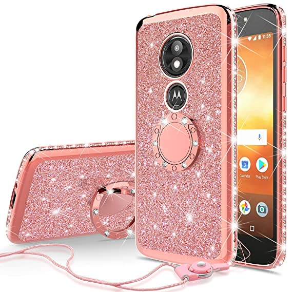 online store 8727b dee01 Amazon.com: SOGA Diamond Bling Glitter Cute Phone Case with ...