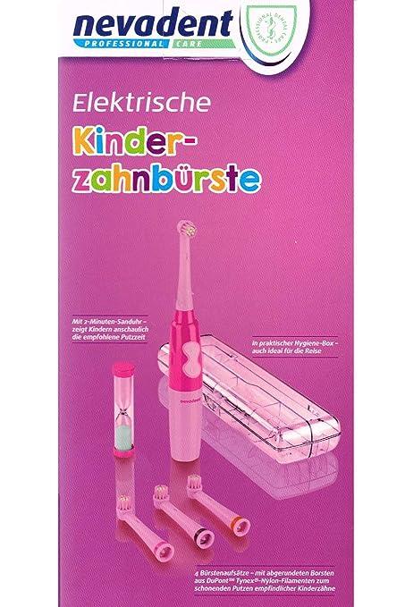 nevadent® Cepillo de dientes eléctrico de niños 273033 nkz 3 A1 + Caja + aufsäzte