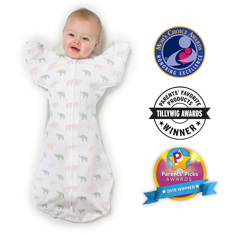 Amazing Baby by SwaddleDesigns Saquito de algod/ón para beb/é con brazos libres y manoplas