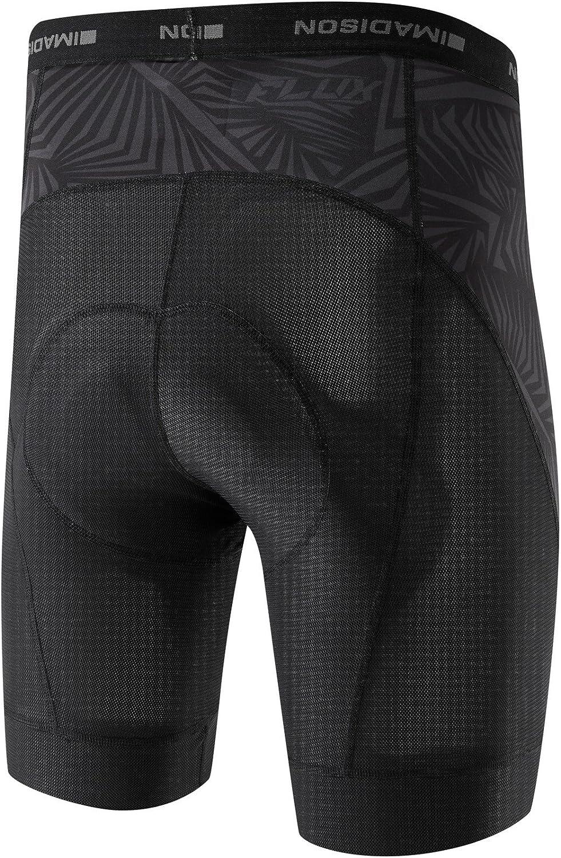 Madison Flux Men/'s cycle cyclisme vélo Liner Shorts Noir.