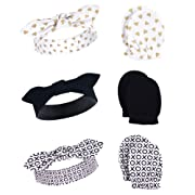 Hudson Baby Baby Headband and Scratch Mitten Set, 6-Piece, XOXO, One Size