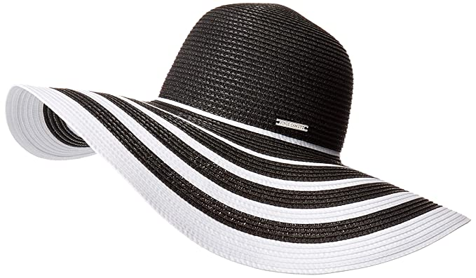 Vince Camuto Women s Ribbon Stripe Floppy Hat acdb8897afac
