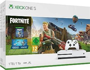 Microsoft Xbox One S - Consola de 1 TB, Color Blanco + Fortnite