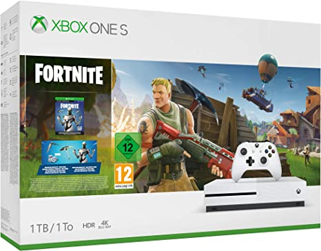 Microsoft Xbox One S - Consola de 1 TB, Color Blanco + Fortnite: Microsoft: Amazon.es: Videojuegos