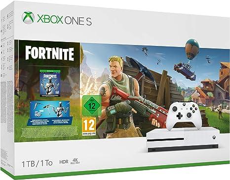 Microsoft Xbox One S - Consola de 1 TB, Color Blanco + Fortnite ...