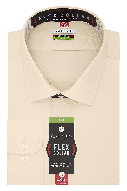 Toile 48 cm cou 86 cm- 89 cm hommeches Van Heusen Robe Shirts Big Fit Flex Solid Spread Collar Chemise habillée Homme