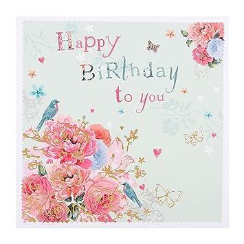Hallmark Birthday CardquotFlowers And Butterfliesquot